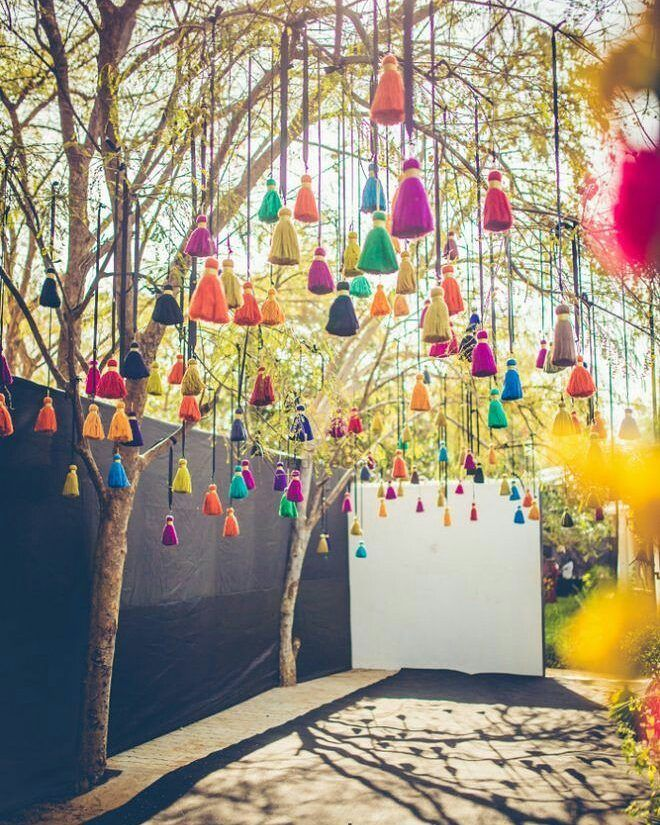 New age hangings we spotted at real weddings knockout decor ideas also wall background drops in pinterest wedding decorations rh