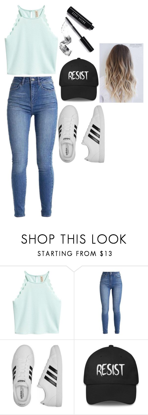 """Untitled #65"" by pichardogeorgina ❤ liked on Polyvore featuring adidas and Bobbi Brown Cosmetics"