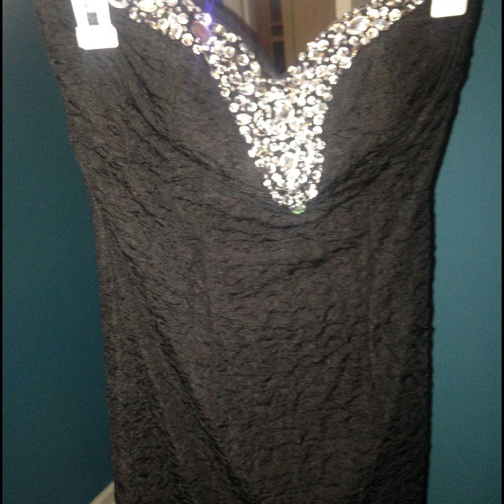 Black diamond formal strapless dress strapless dress black