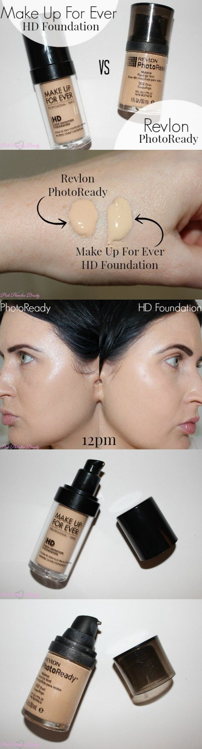 Revlon Photoready Foundation VS Make Up For Ever HD