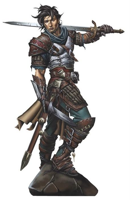Two weapon Fighter - Pathfinder RPG PFRPG DND D&D d20 fantasy