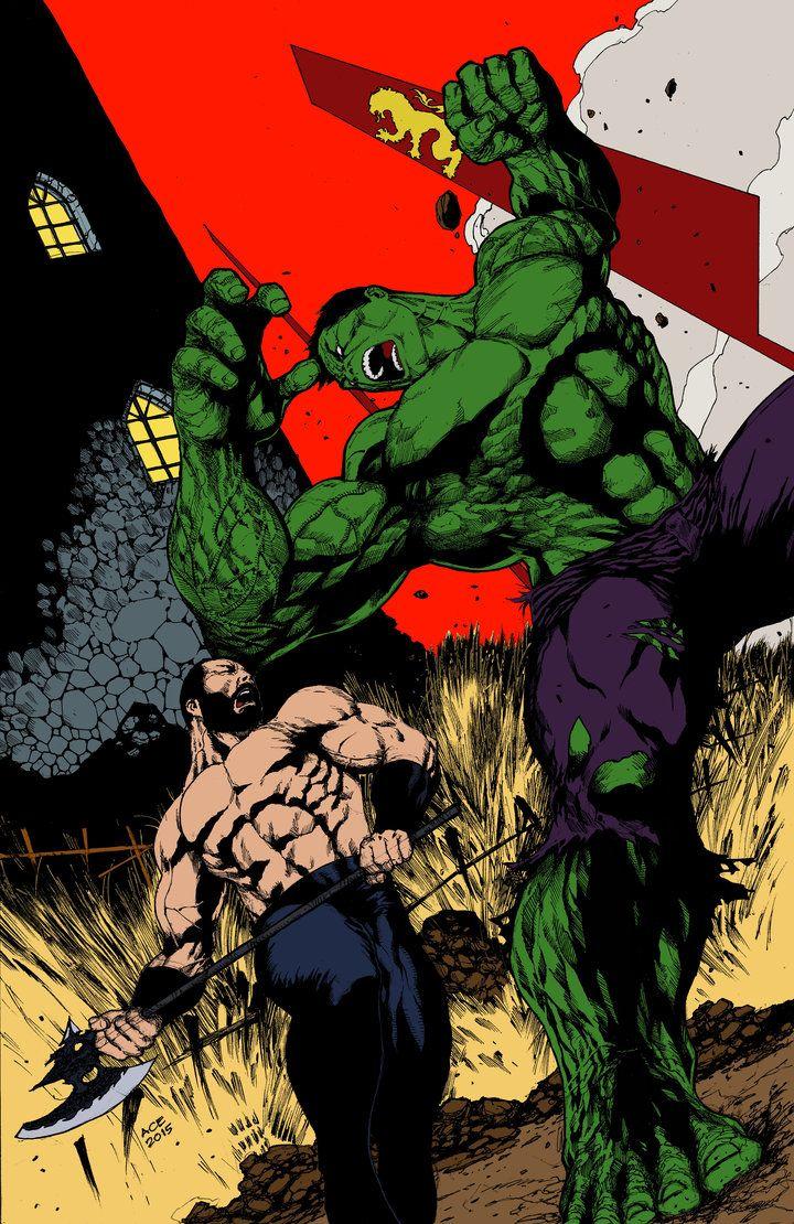 #Hulk #Fan #Art. (The Mountain vs The Hulk - Flats) By: Nocturnalgeek10. ÅWESOMENESS!!!™ ÅÅÅ+