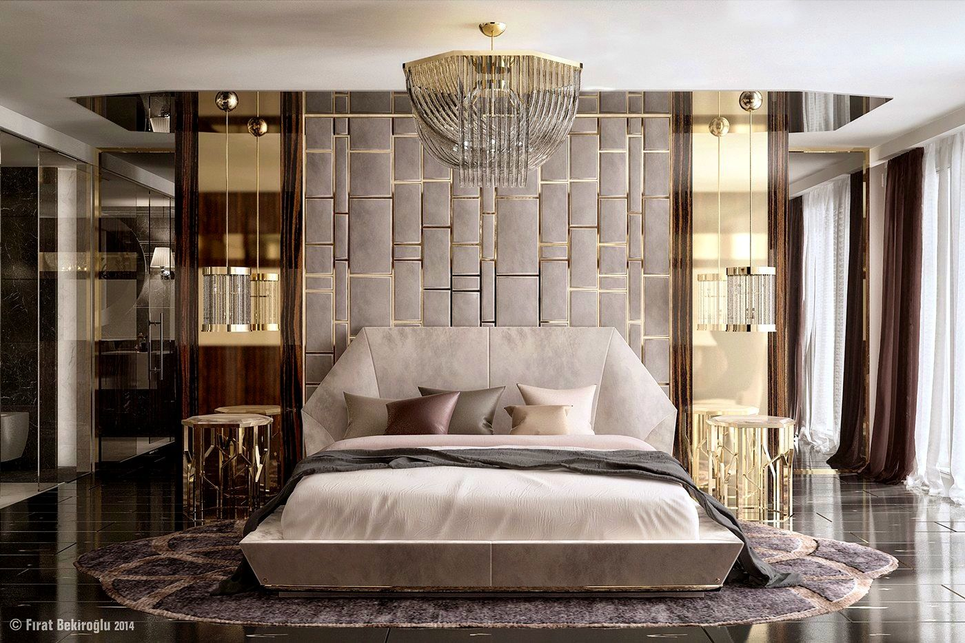 accessories tasty glamorous bedroom decor ideas mirrored metal bed