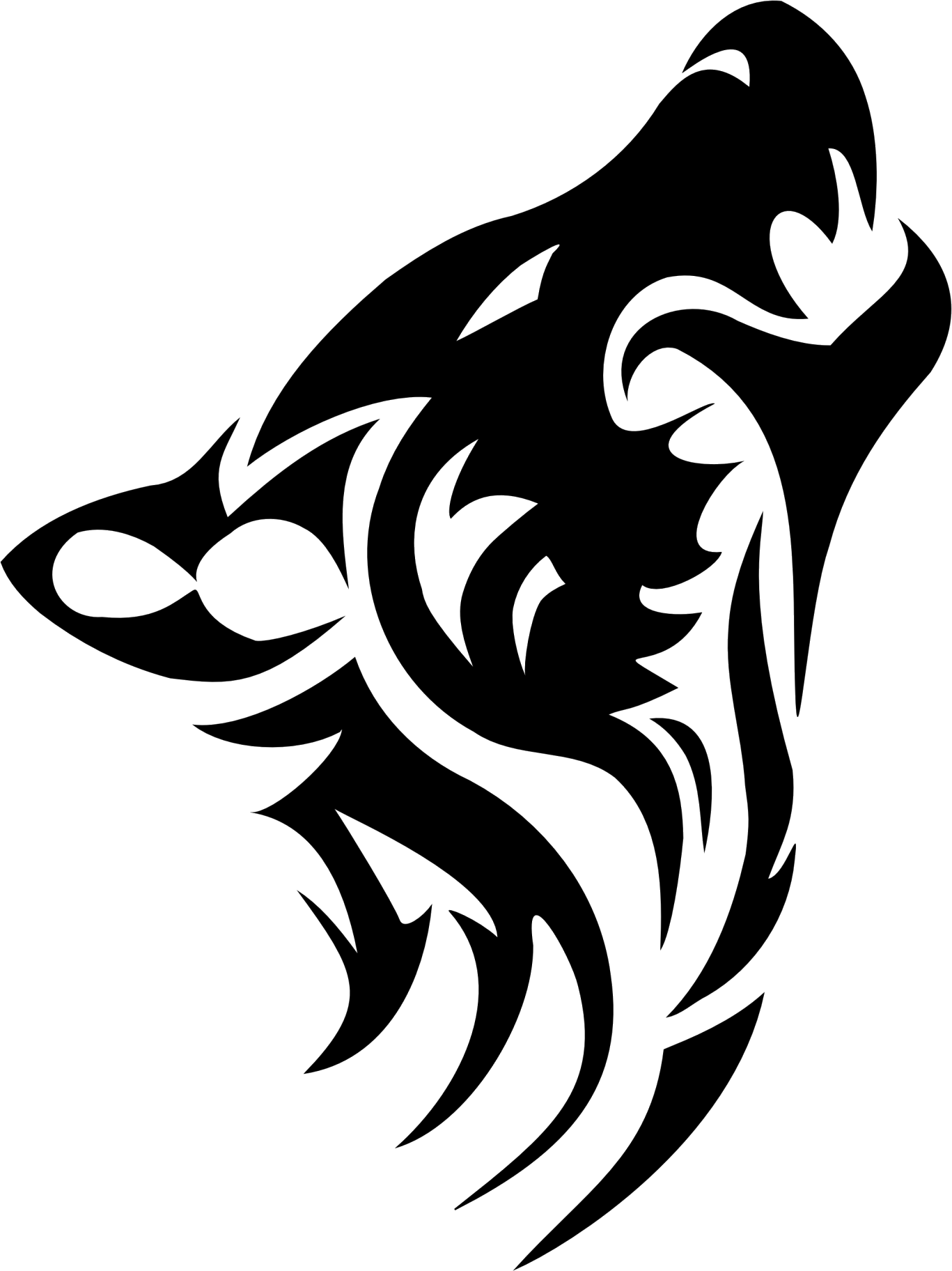 Wolf Tattoos Png Transparent Images Png All Tribal Wolf Tattoo Tribal Animal Tattoos Tribal Wolf