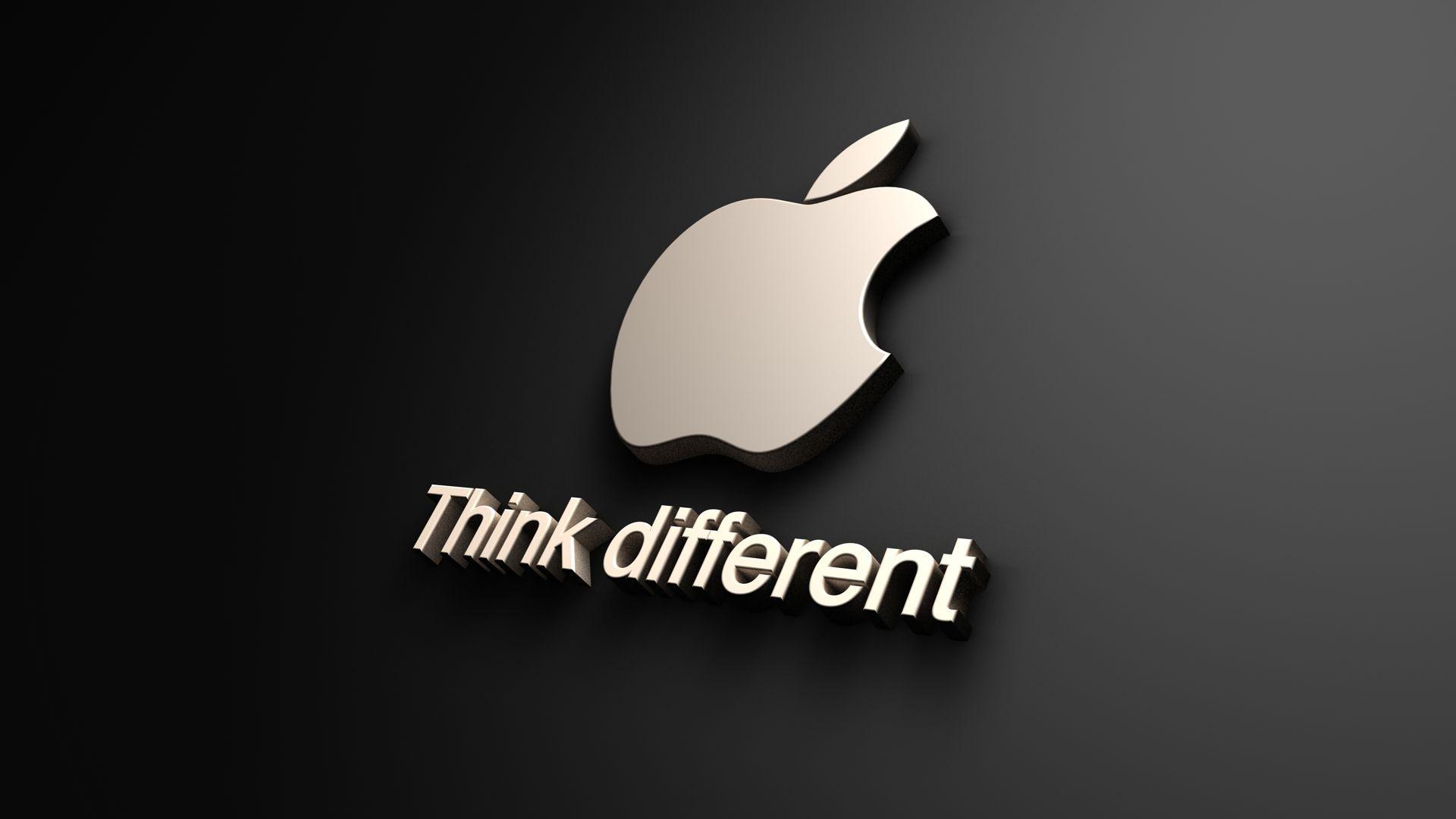 Think Different Apple Logo 1080p 1080p Apple Computers Logo