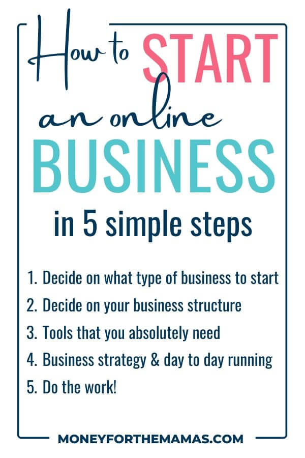 5 Simple Steps To Starting Your Own Online Business Starting Small Business Business Basics Starting A Clothing Business