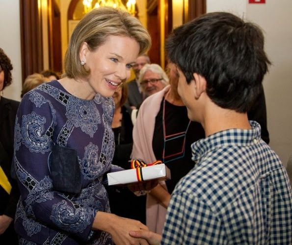 "Queen Mathilde of Belgium visited the exhibition ""Design Derby ..."
