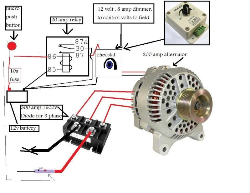how to wire an alternator to weld  Google Search | crafty in 2019 | Welding, Electric cars