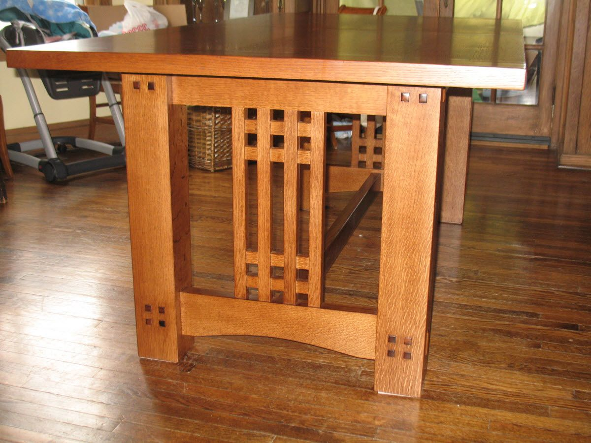 Arts U0026 Crafts Inspired Dining Table   Readeru0027s Gallery   Fine Woodworking