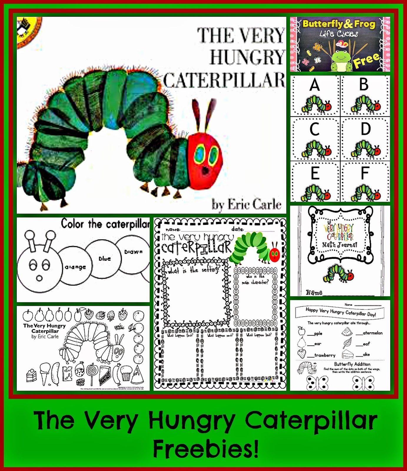 Kindergarten: Holding Hands and Sticking Together: Eric Carle and LOTS OF FREEBIES!