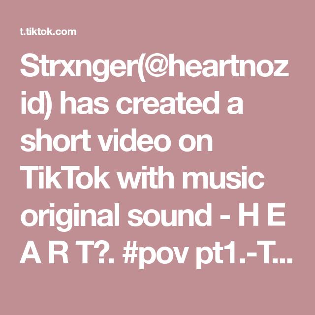 Strxnger Heartnozid Has Created A Short Video On Tiktok With Music Original Sound H E A R T Pov Pt1 The Mafia Leade Vsco Photography How To Plan Video