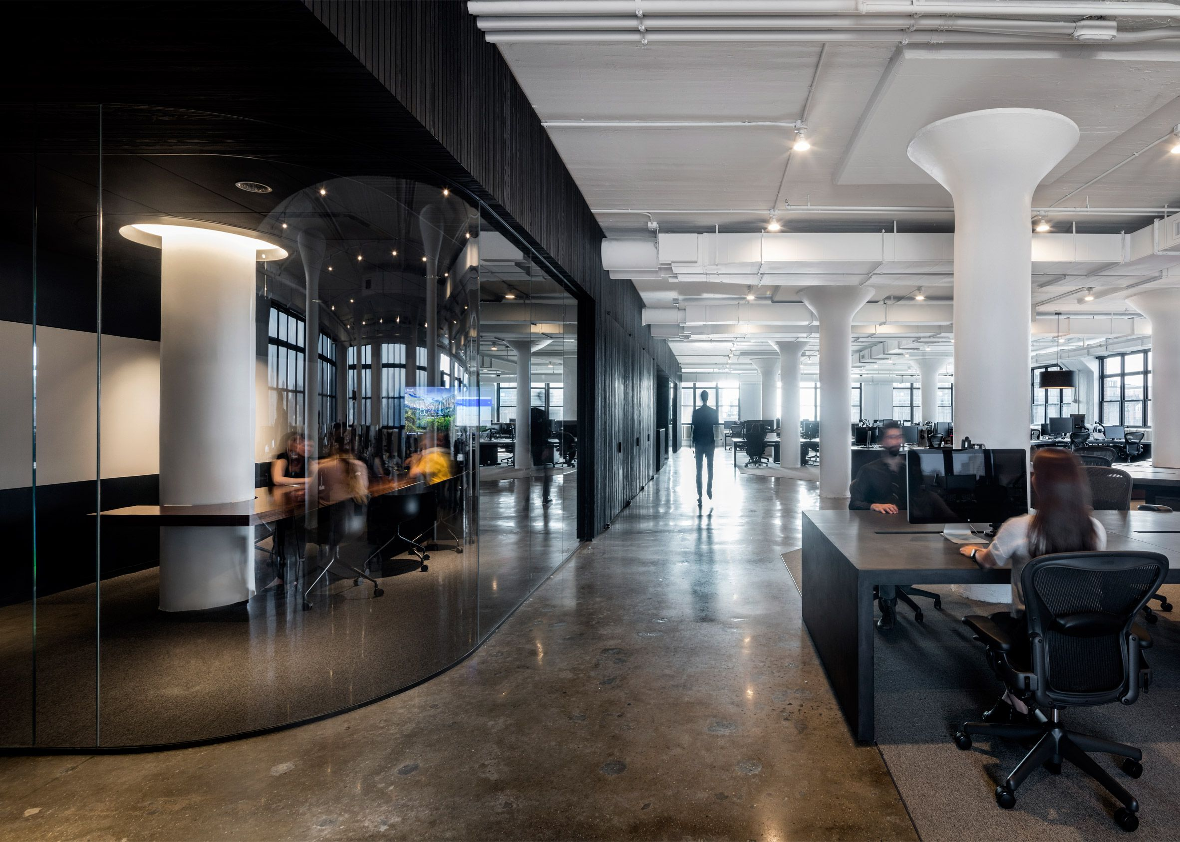 A i uses yin yang palette for squarespace headquarters for Interior design office new york