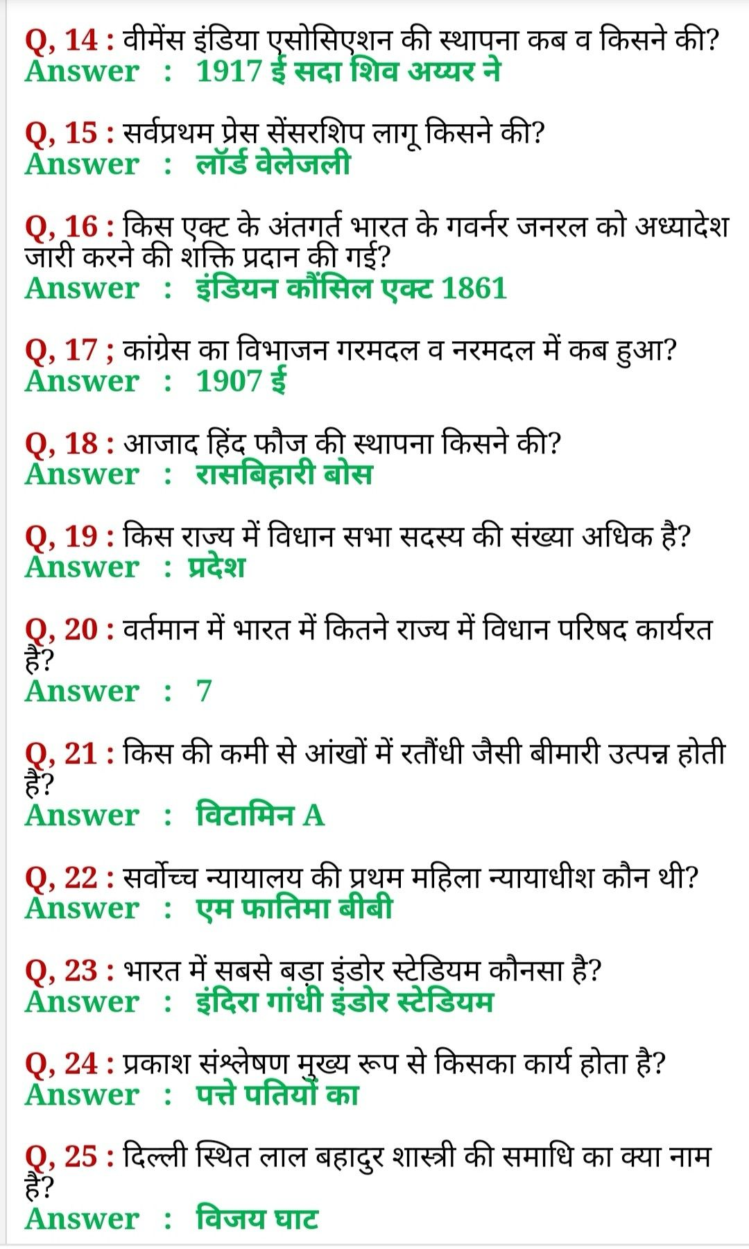 Gk Question (2020) General Knowledge In Hindi Gktoday Gk