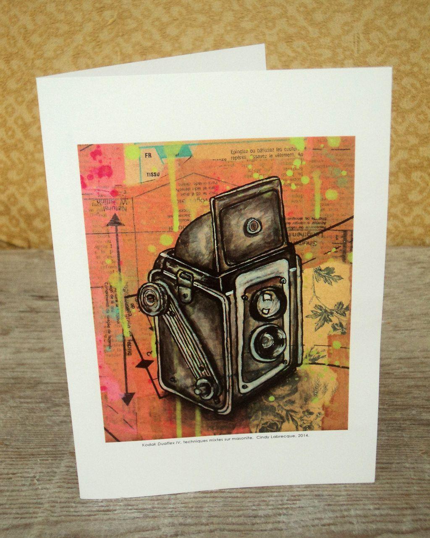 Vintage kodak duaflex camera blank greeting card tango original vintage kodak duaflex camera blank greeting card by cindylabrecquedesign on etsy httpswww kristyandbryce Gallery