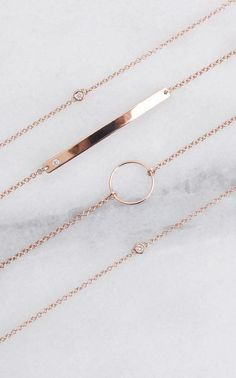 A fine selection of some of our favorite rose gold pieces Vrai