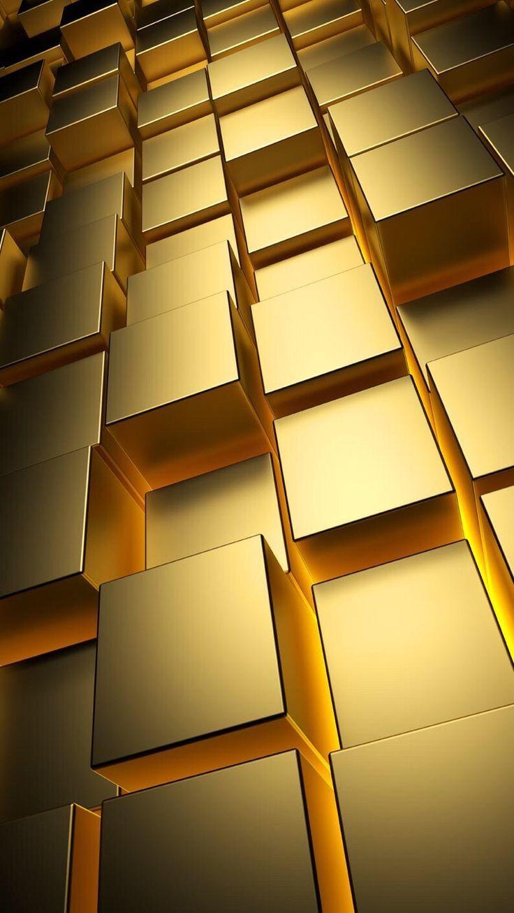 Gold Cubes Pattern Golden Wallpaper Gold Wallpaper Samsung Wallpaper