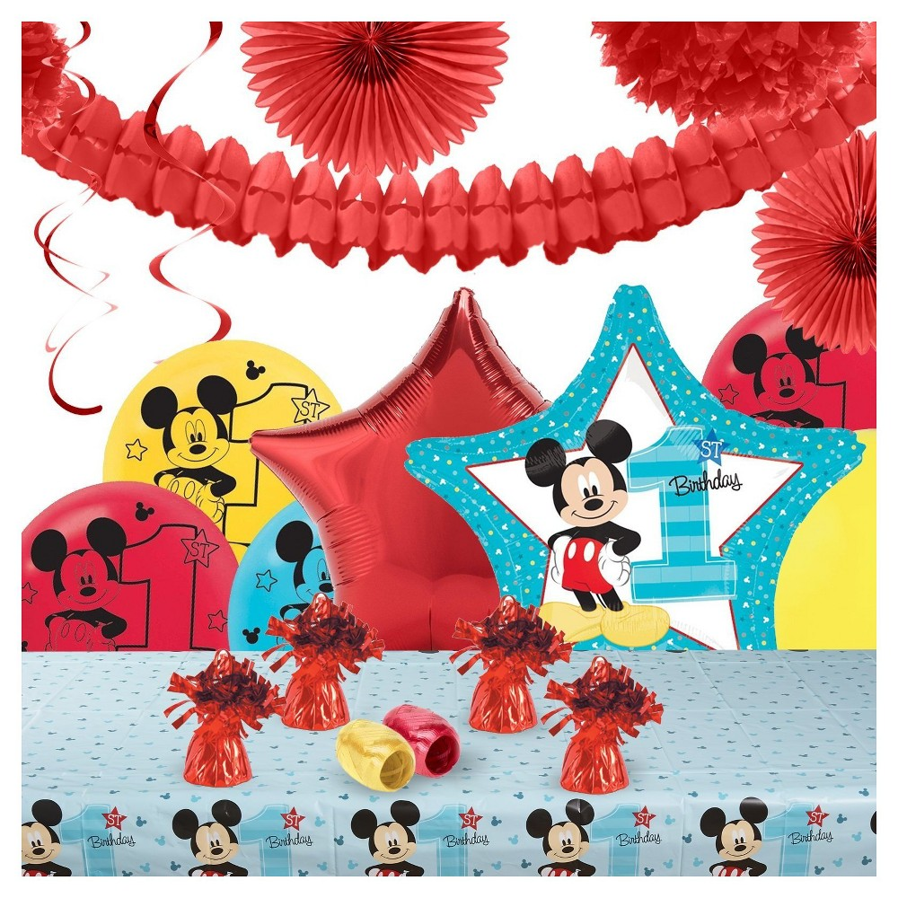 Disney Mickey Mouse 1st Birthday Party Decoration Kit Blue