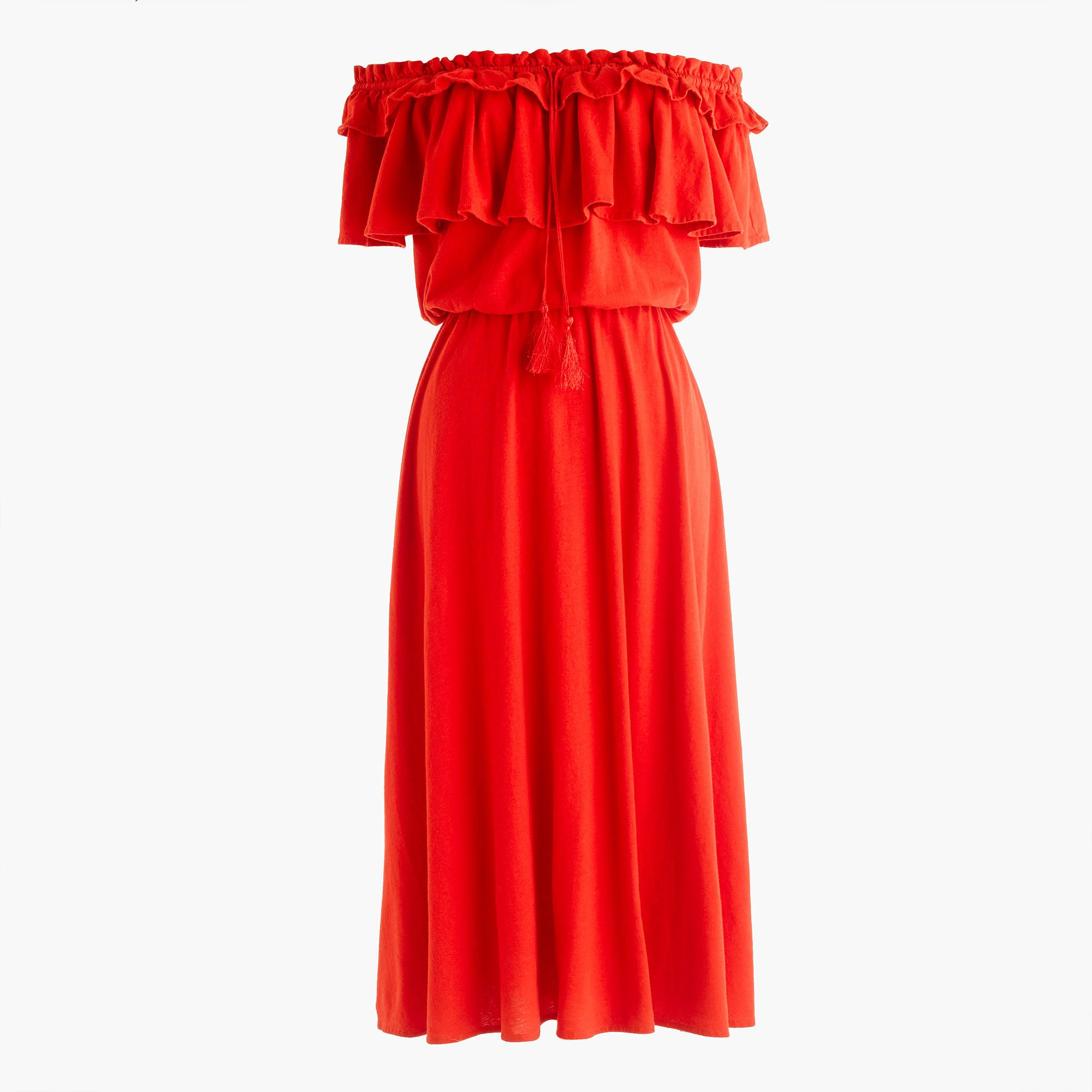 327a4fc7fd30 J.Crew - Off-the-shoulder ruffle dress