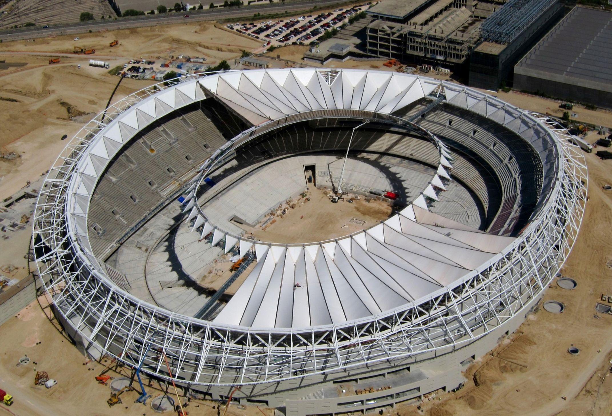 Wanda Metropolitano Stadium - Location Madrid Spain Cable Structures Architectural Fabric