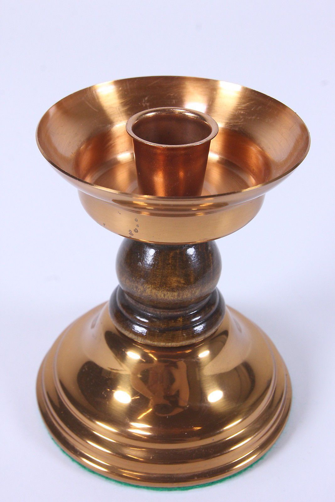 Weighted copper candle holder tapered candles