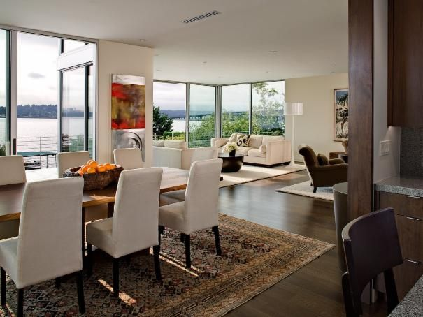 Photo of White Transitional Dining Room project in Seattle, WA by NB Design Group, Inc