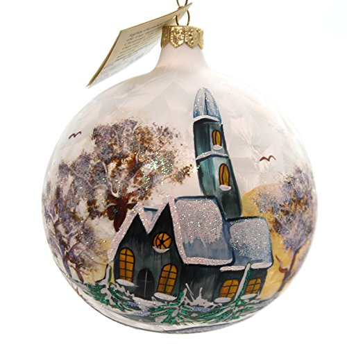 Christina S World Church In A Church Glass Ornament Ball Winter Win667 Christmas Ornaments Top Brands Artists Designer Names Glass Ornaments Old World Christmas Ornaments Christmas Ornaments