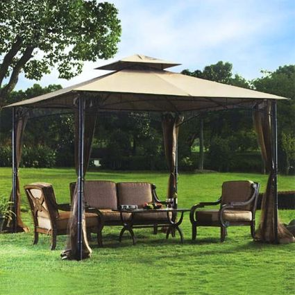 High Quality 10 X 10 Bamboo Design Frame Gazebo With Mosquito Netting Backyard Gazebo Bamboo Design