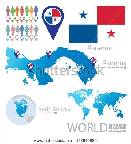 Panama Flag North America World MapFOSTERGINGER AT - World map panama