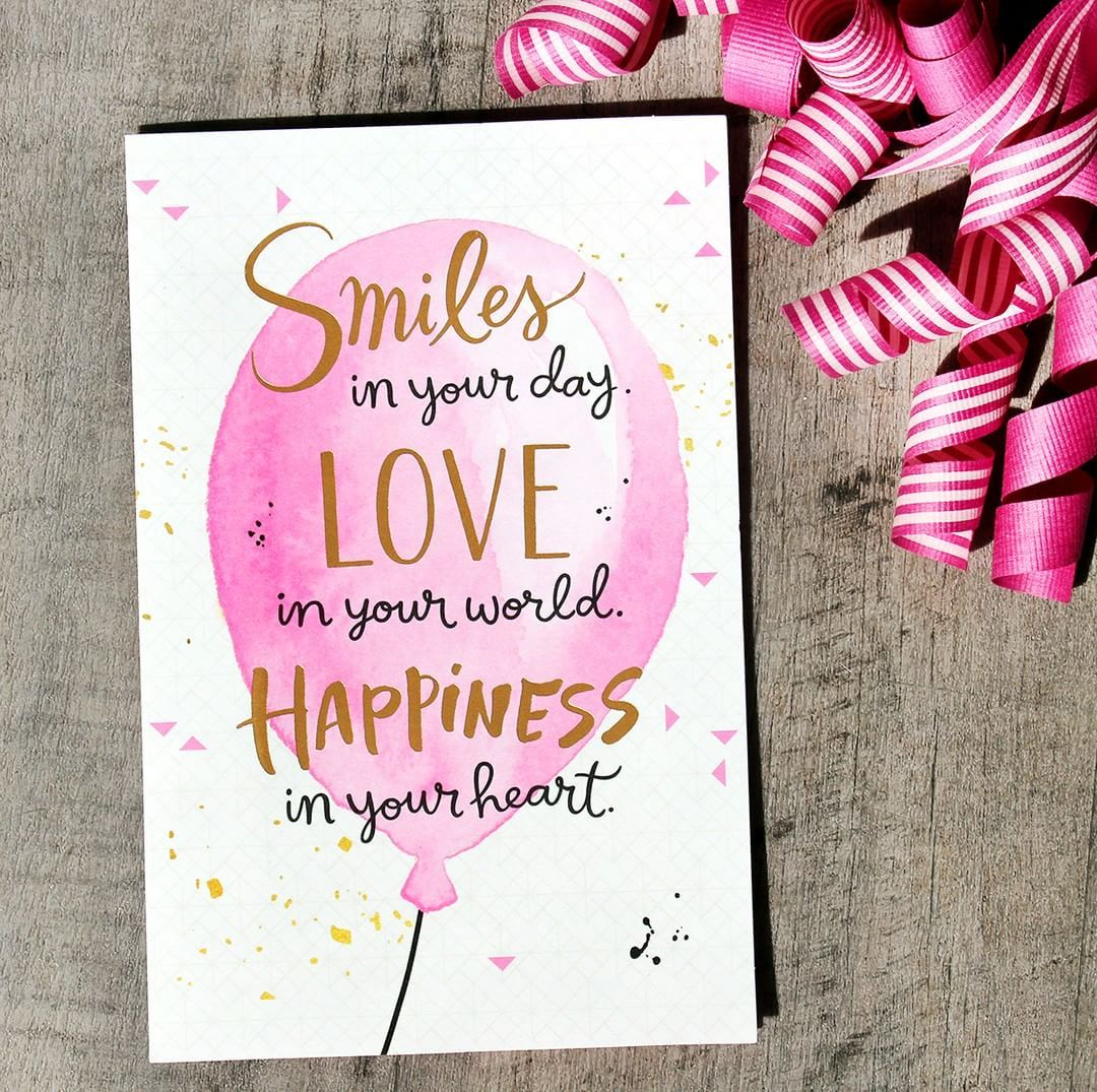 Wishing You Smiles In Your Day Love In Your World And Happiness In Your Heart Inspiration Smiles Love Happine Cards Birthday Cards Carlton Cards