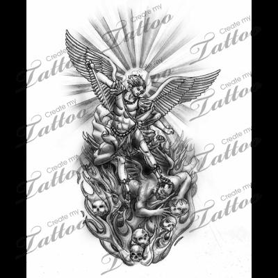Michael The Archangel Tattoo Designs Share This Tattoo Design 11