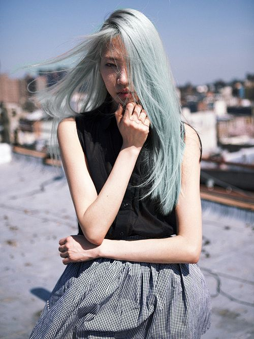 This Pretty Pastel Blue Hair Is The Fade Out From A Brighter Blue