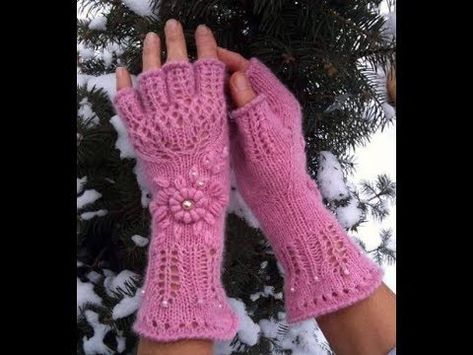 Crochet Gloves Patterns - (with Fingers, with Half Fingers ...