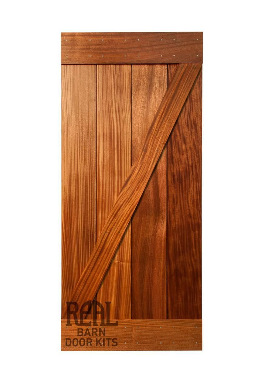 Sapele Mahogany Barn Door Real Sliding Hardware Barn Door