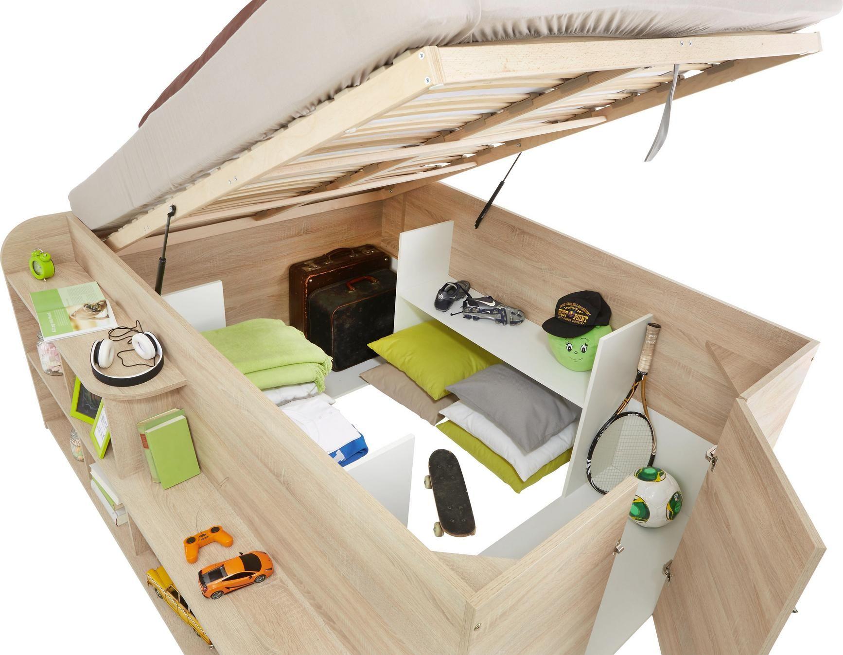 Bett In Sonoma Eiche Ca 140x200cm Online Kaufen Momax Mit Bildern Bett Mit Stauraum Bett Bauen Diy Wohnmobel