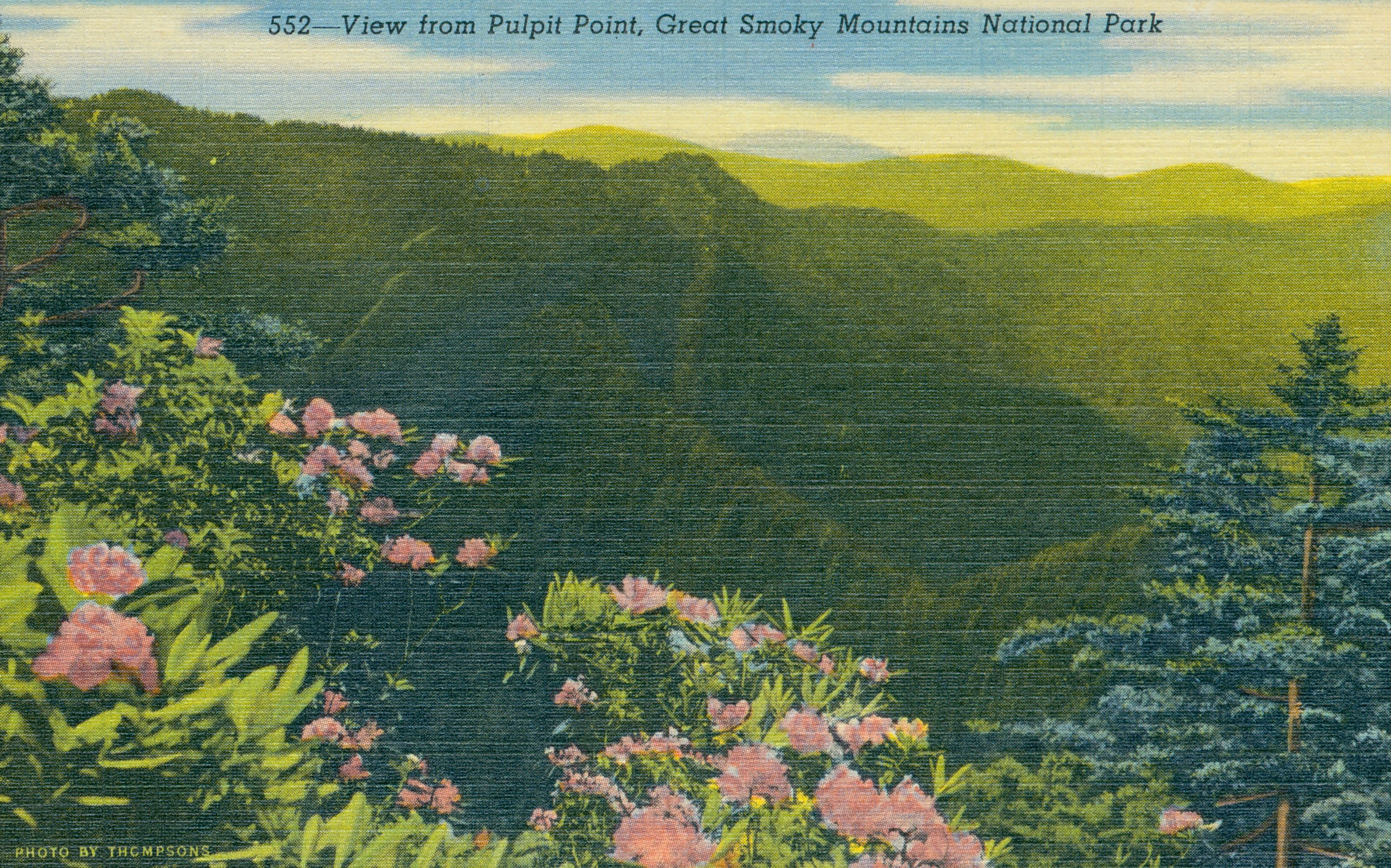 View of Pulpit Point, Great Smoky Mountains National Park
