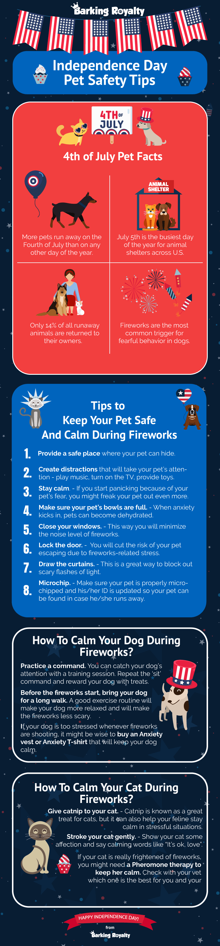 Pets aren't big fans of fireworks, we all know that. But