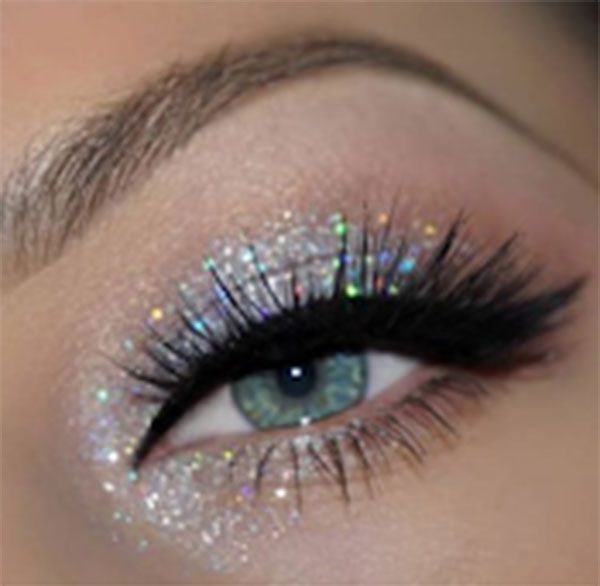 Bossy Girl Cosmetics, Newport Beach, California, Silver Glitt... - Dress Models -  Looks silver   -