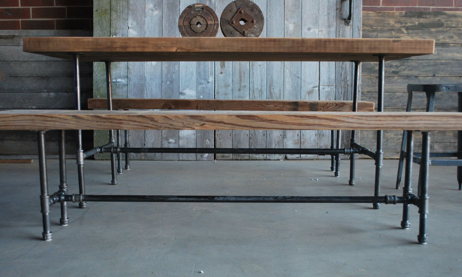 Exceptional High Bar Table Made Of Reclaimed Wood. We Create Them In Alny Size. 84
