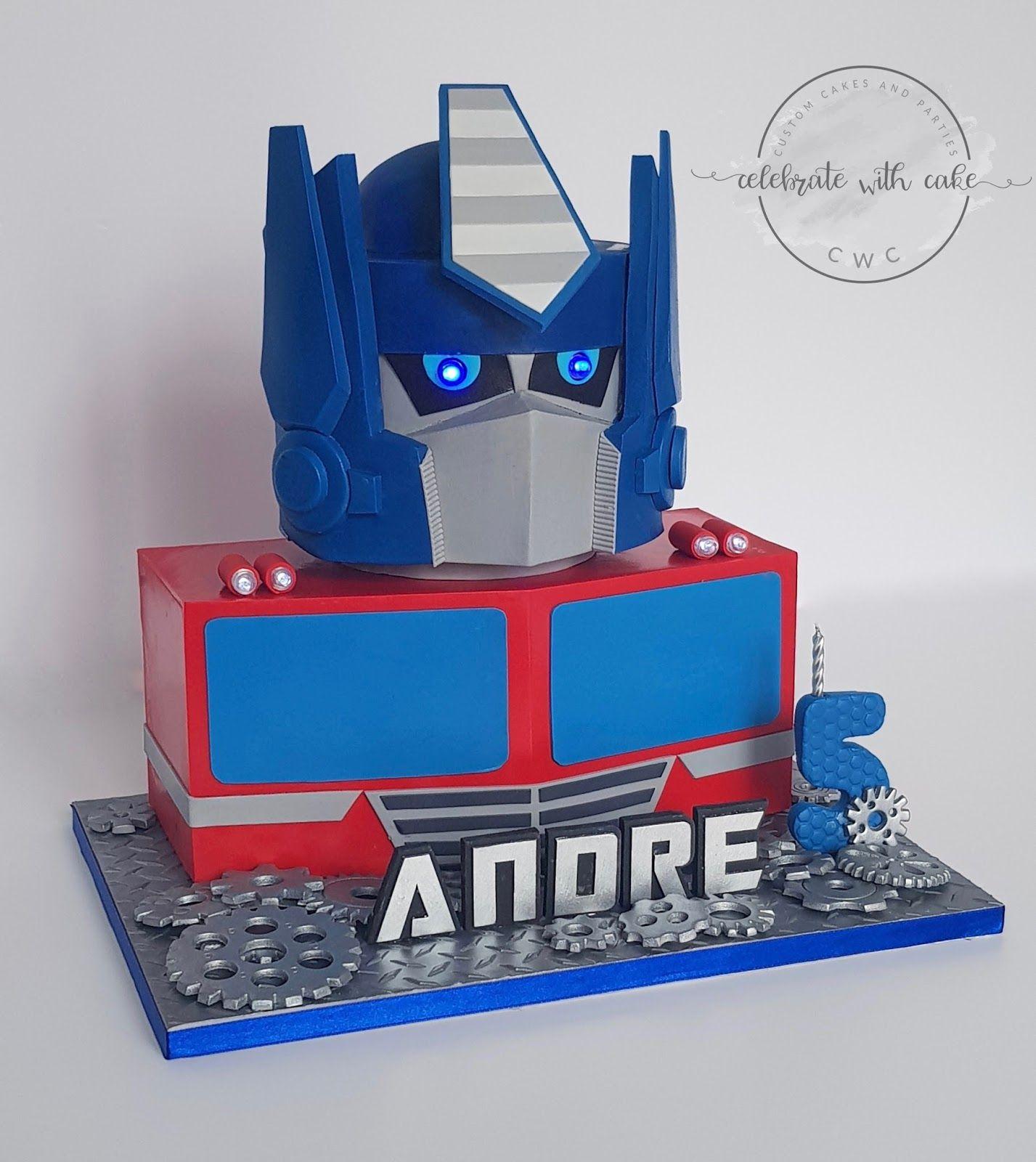 Celebrate with cake optimus prime cake in 2020 optimus
