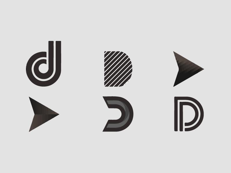Letter D Exploration Lettering Logo Design Letter D