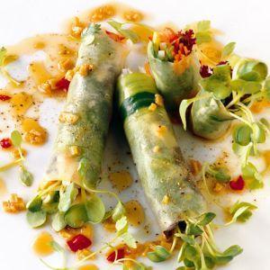 Raw Food  Zomerse Komkommerrolletjes uit Rauw van Charlie Trotter