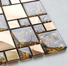 Stainless Steel Tile Glass Tiles Glass Mosaic Bathroom Tiles