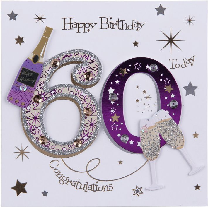 Image Result For Female 60th Birthday Cards 60th Birthday Cards 60th Birthday Greetings Happy Birthday Wishes Cards