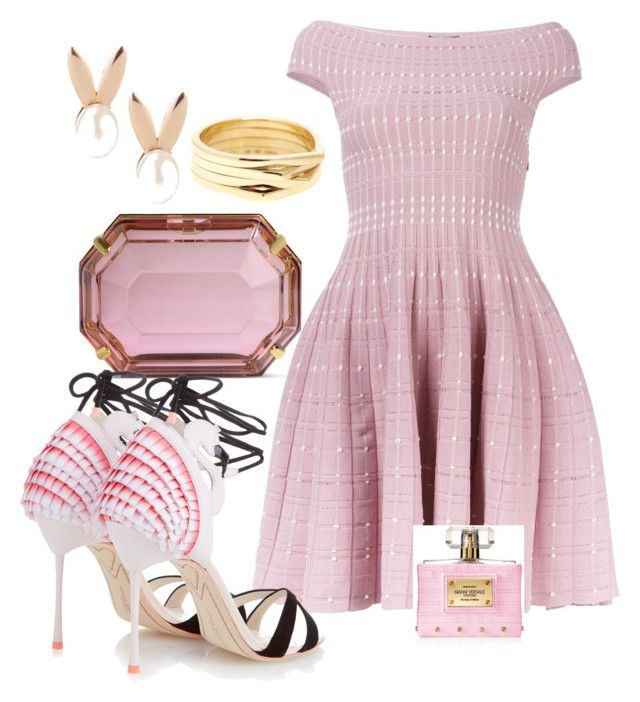 """""""Pink every day♡"""" by ahumadarosy on Polyvore featuring Aamaya by priyanka, Alexander McQueen, Charlotte Olympia, Repossi, Versace and Sophia Webster"""