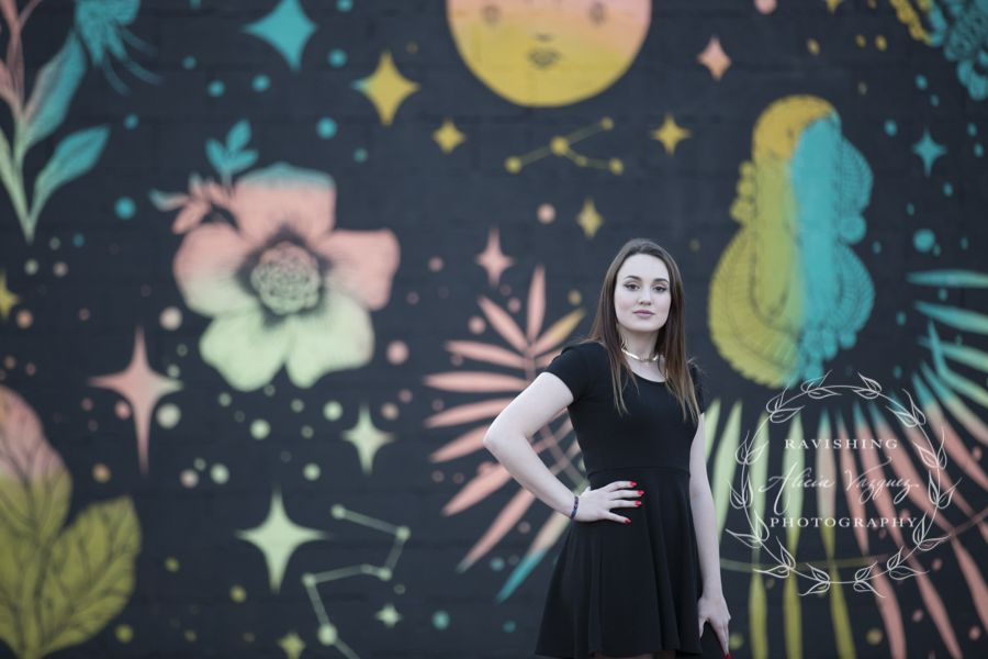 Photo-shoot With A Pop Of Color Featuring Street Wall Art