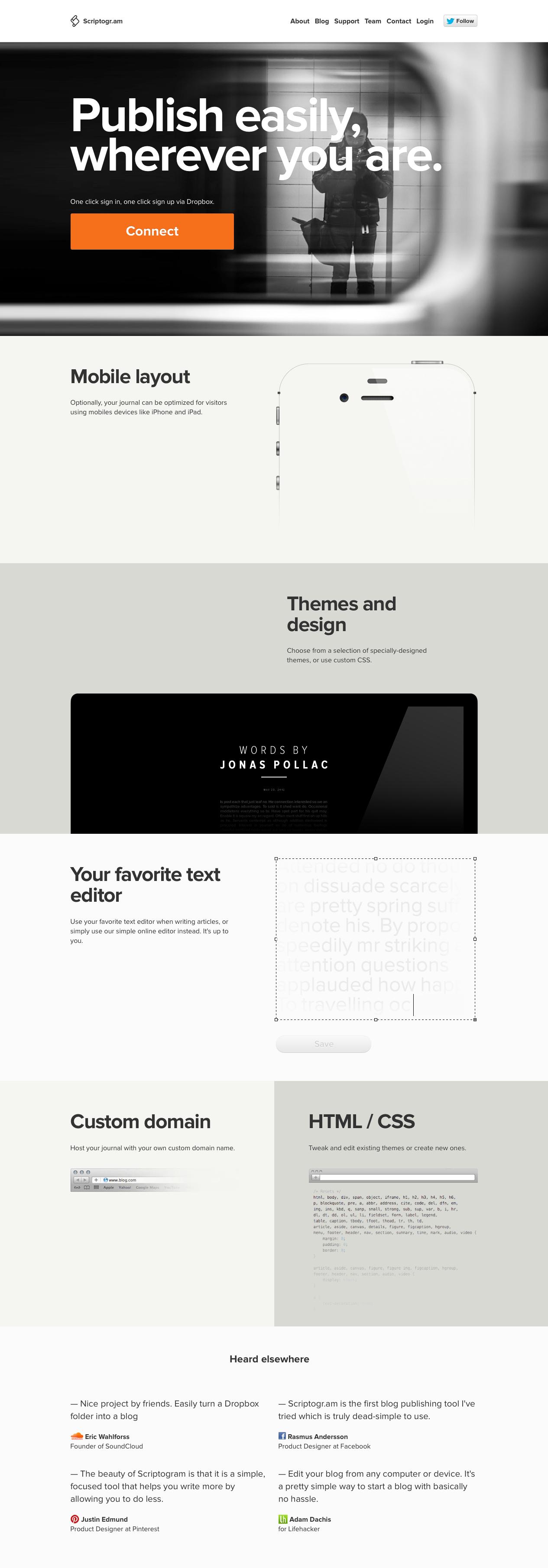 Scriptogr Am Super Simple And Intriguing Minimal Web Design Interactive Design Web Design