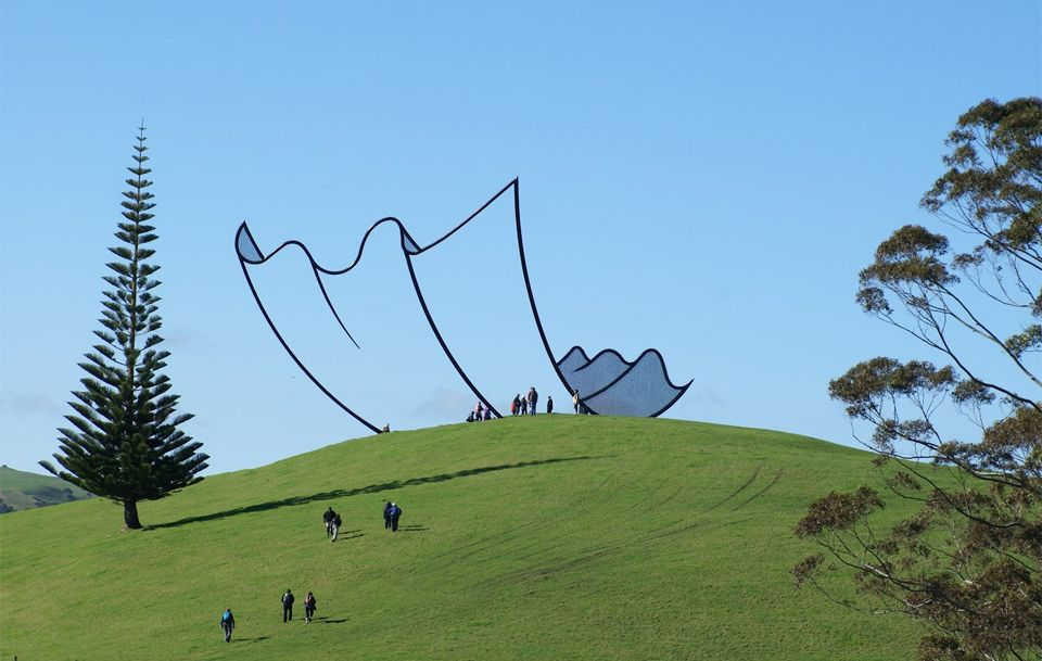 Sculpture That Looks Like A Cartoon, New Zealand By Gibbs Farms