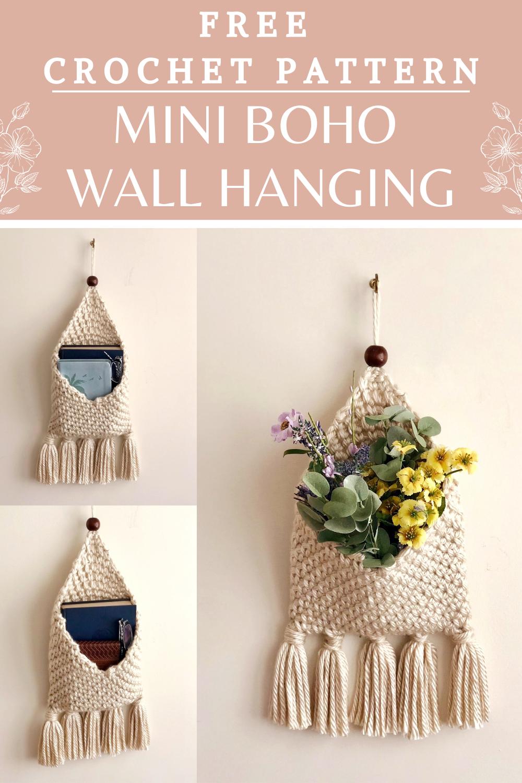 Tenture murale Mini Macrochet Boho – Crochet et tricot du jour   – Crochet