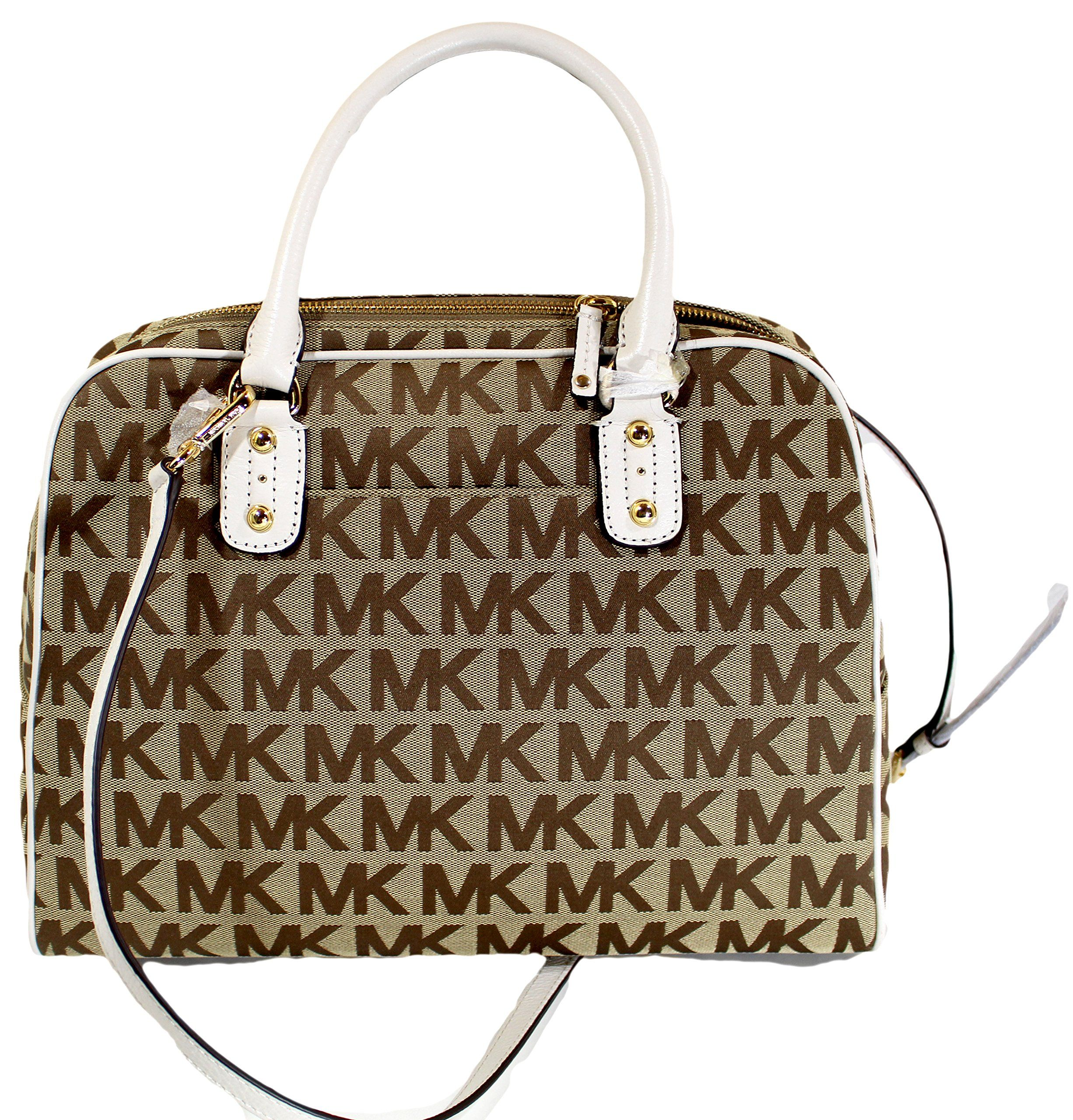 97c7f28a7c75d0 Michael Kors MK Signature JACQUARD LG Satchel Handbag Shoulder Purse Bag --  You can get additional details at the image link. (This is an affiliate  link) # ...
