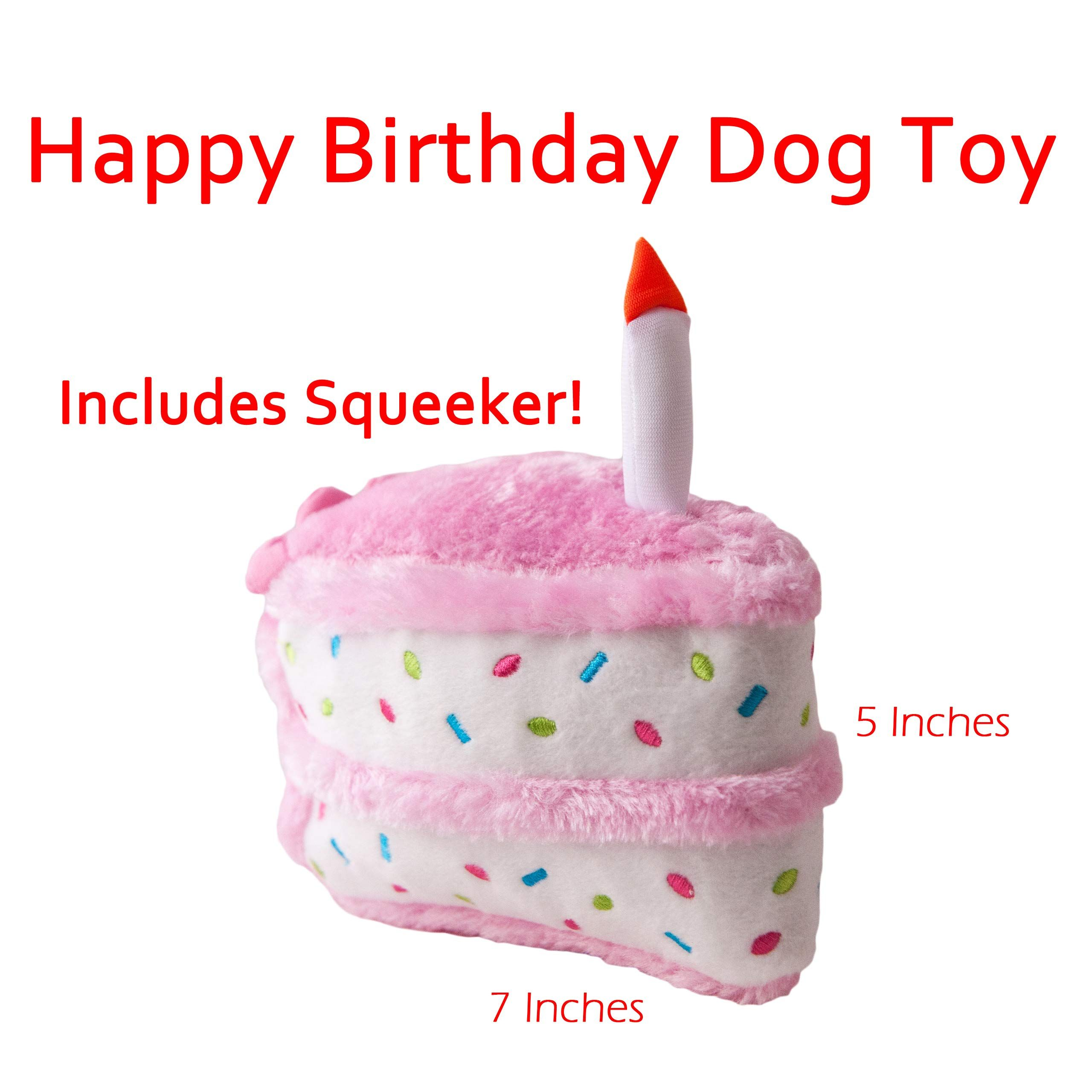 Fantastic Zippypaws Dog Birthday Toy Squeaky Chew Pink Birthday Cake Dog Funny Birthday Cards Online Alyptdamsfinfo